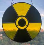 Radioactive Sign Symbol Stained Glass Suncatcher by Esperanta-Dragon