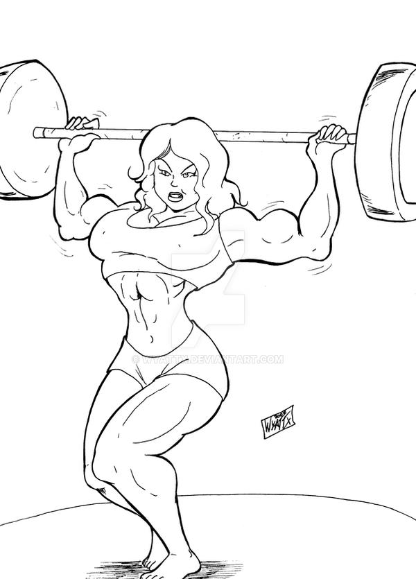 Strong girl exercice by wyattx