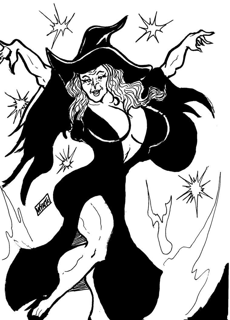 A sexy witch by wyattx