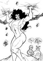 She hulk sketch by wyattx