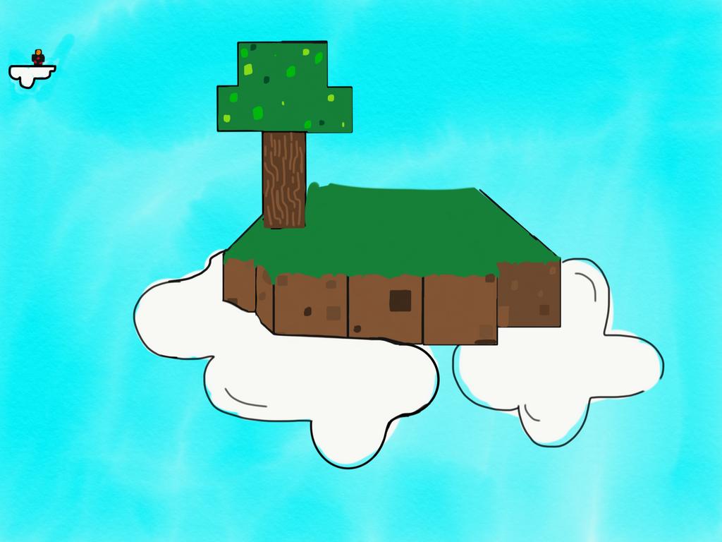 Minecraft skyisland by Sithpleg
