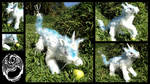 Sparkling Dewdrop - Handmade OOAK Unicorn Poseable