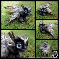 Baby Griffin - Handmade Poseable Art Doll - SOLD
