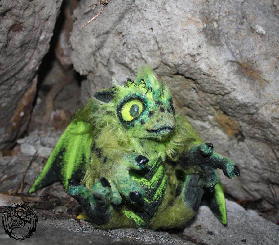 Kale - Baby Tropical Dragon- Handmade OOAK Artdoll