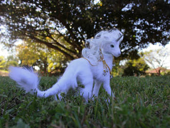 Commission- Handmade OOAK Poseable Artdoll unicorn by SonsationalCreations