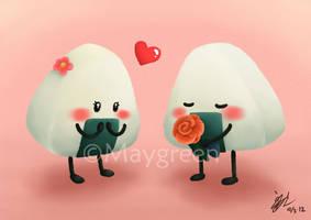 Romantic Onigiri by Maygreen