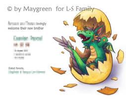 BabyAnnouncement Dragon by Maygreen