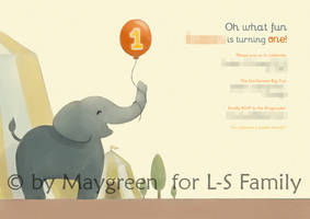 BirthdayInvitation Elephant by Maygreen