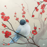 Little Bird and Plum Blossoms