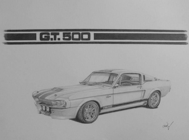 Ford Mustang Gt500 Eleanor By Chadvstudio On Deviantart