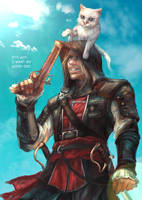 Cat's slave privateer captain by sunsetagain