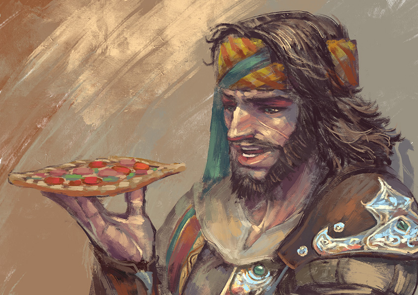 Yusuf eating a pide by sunsetagain