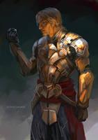 Edward in Mayan Armor by sunsetagain