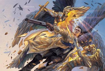 Seraph!Castiel by sunsetagain
