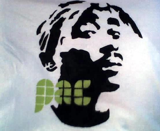 Tupac Stencil By Ashmyhole