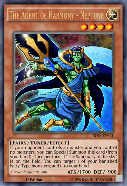 The Agent of Hamony - Neptune - Advanced Card Design - Yugioh Card