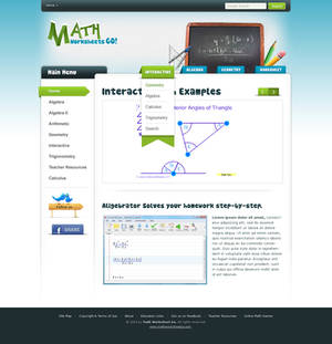 Math worksheet Go
