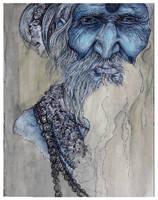 sadhu blue by Cephalopodwaltz