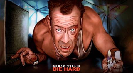 Die Hard John McClane Bruce Willis Fanart