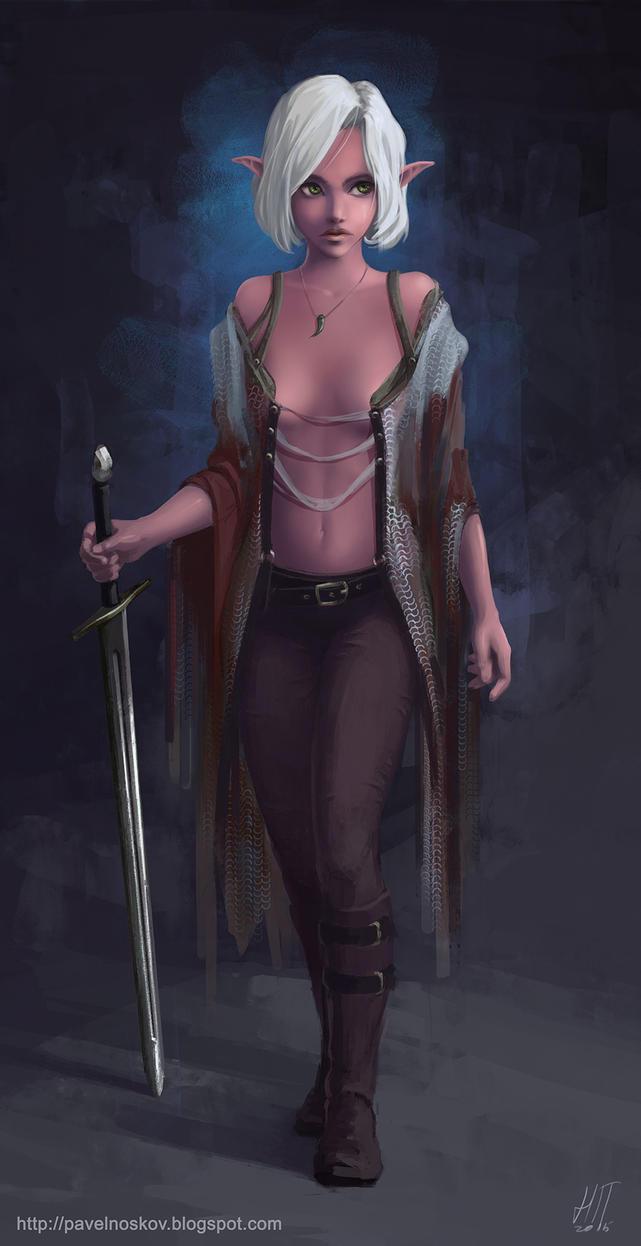 Young Dark Elf by Kitpashka
