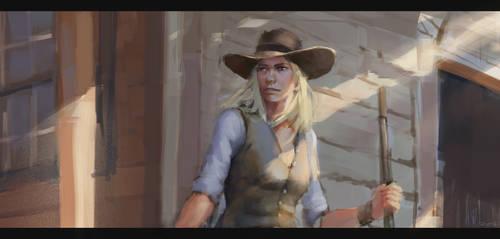 Sketch, western day