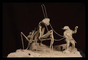 Pangolin and the Mantis by ZombieArmadillo