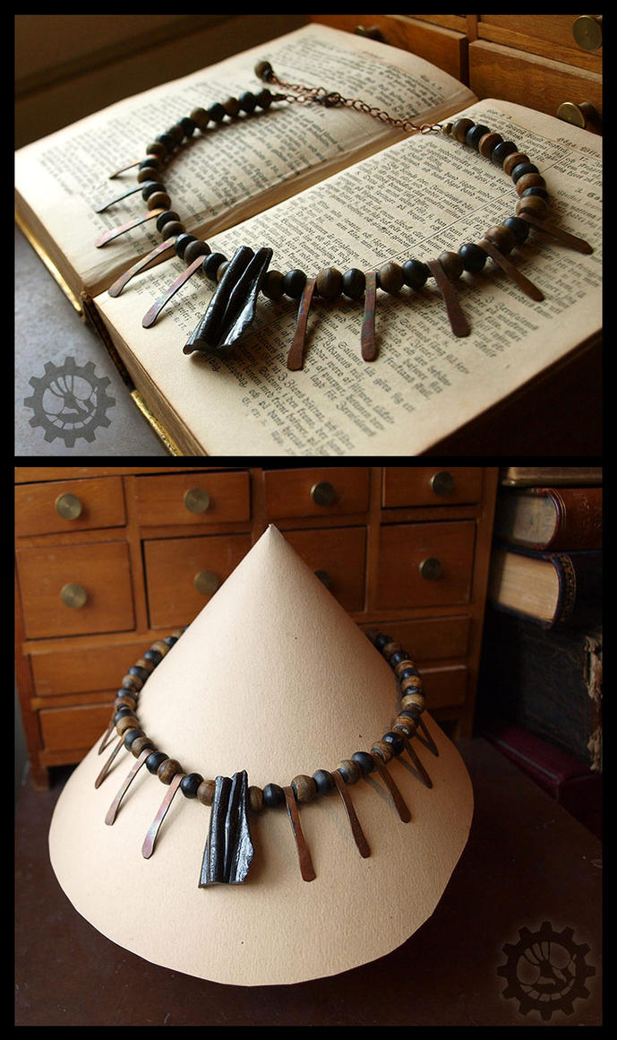 Quenched Fire tribal choker by ZombieArmadillo