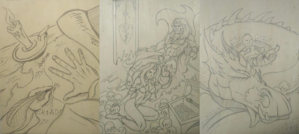 gdr screen triptych design by PaulTT