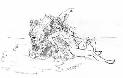 She beheaded a warg - nsfw by PaulTT