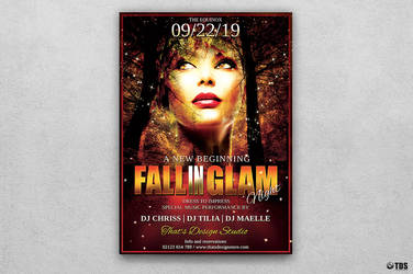 Fall in Glam Flyer Template V3 by Thats-Design