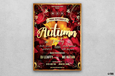 Autumn Equinox Flyer Template V1 by Thats-Design