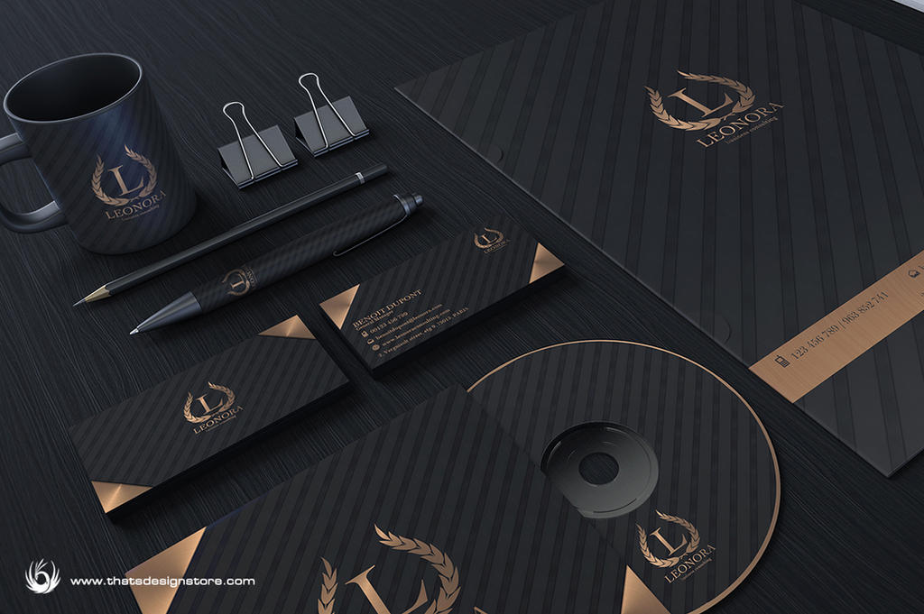 Black and Classy Corporate Identity by Thats-Design