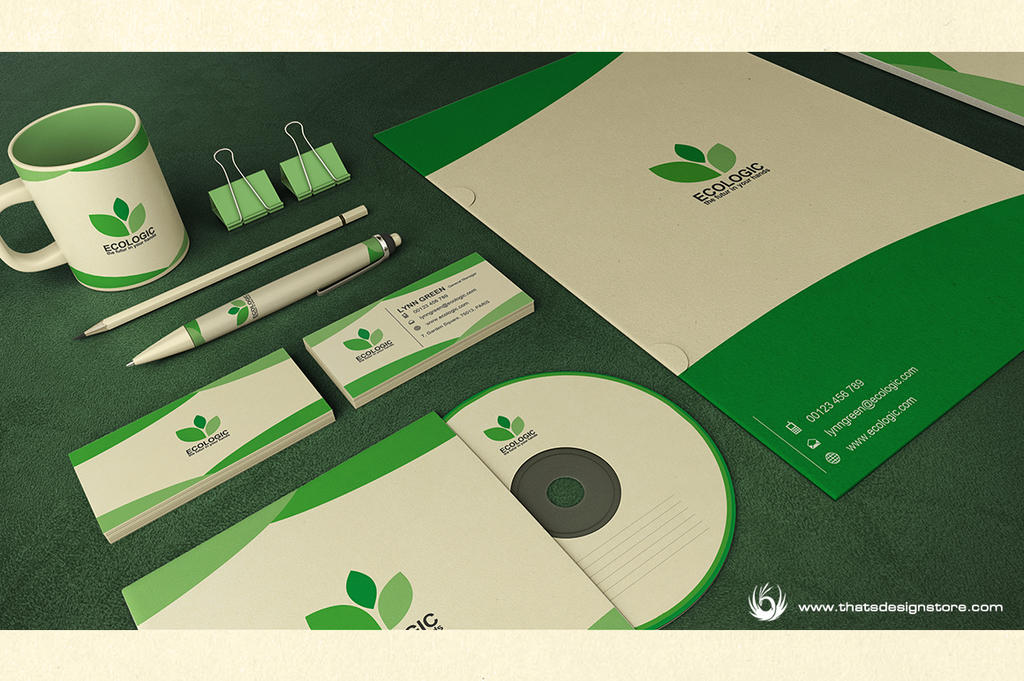 Green and Ecologic corporate identity by Thats-Design
