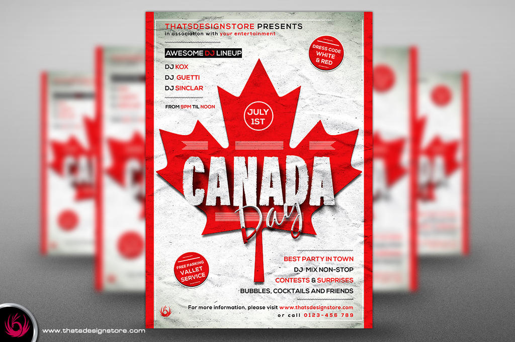 Canada Day Flyer Poster Template by Thats-Design