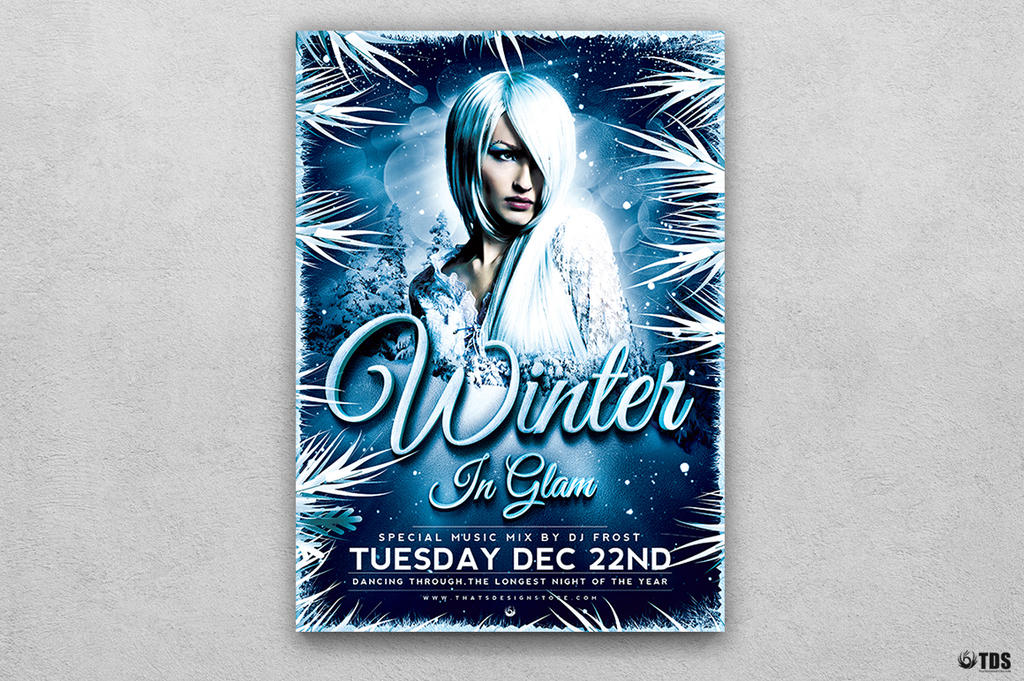 Winter Glam Flyer Template V3 by Thats-Design