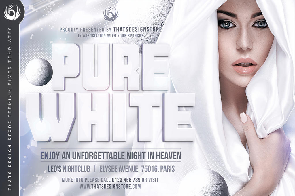 White Party Flyer Template V3 By Thats Design On Deviantart