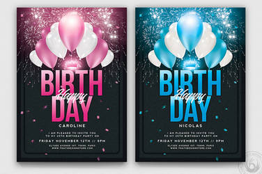 Birthday Party Flyer Template by Thats-Design