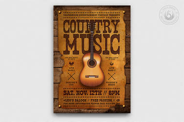 Country Music Flyer Template by Thats-Design