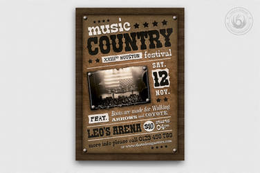 Country Music Flyer Template V2 by Thats-Design