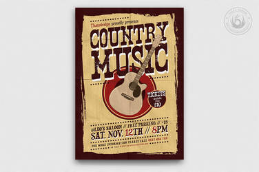 Country Music Flyer Template V3 by Thats-Design