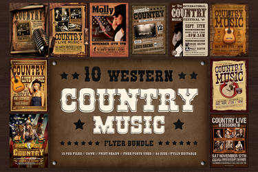 10 Country music Flyer Bundle by Thats-Design