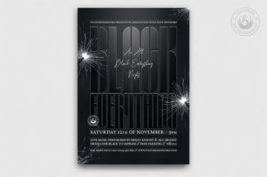 Black Party Flyer Template V5 by Thats-Design