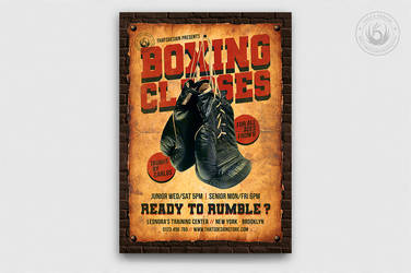 Boxing Classes Flyer Template by Thats-Design