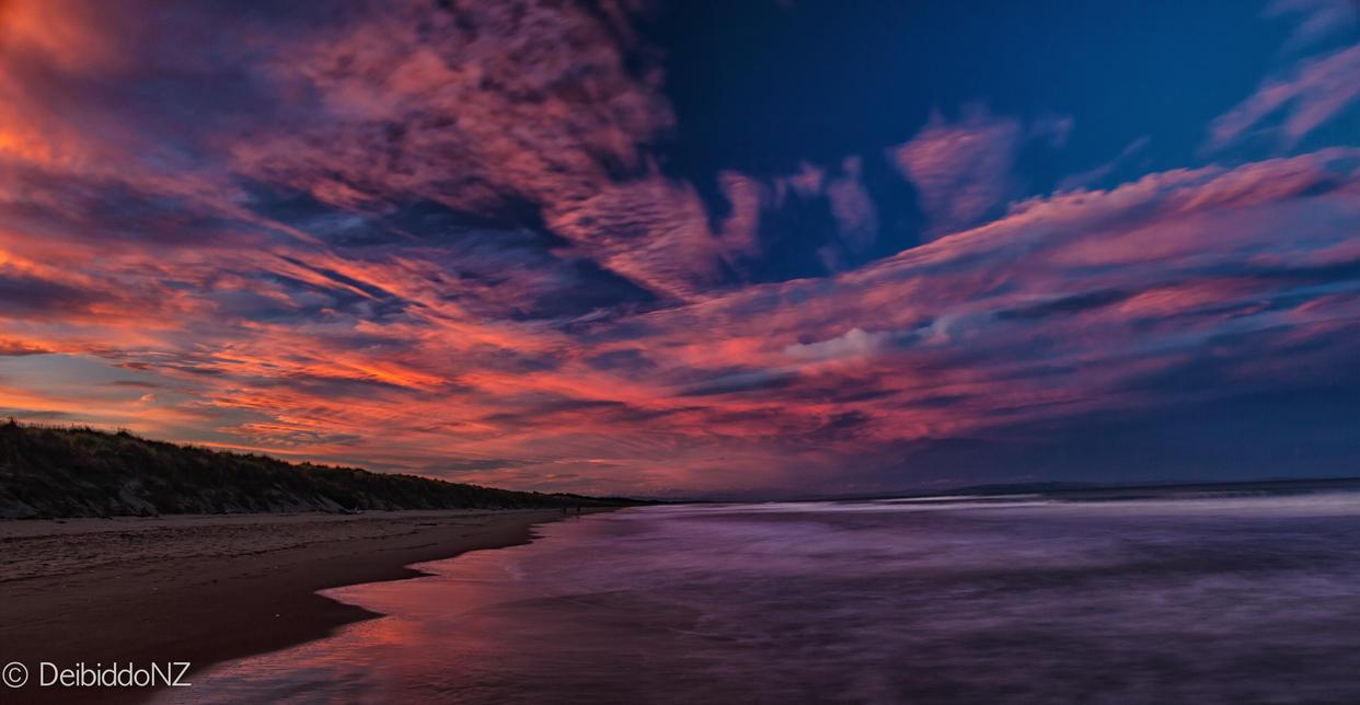 Beach on fire by DeibiddoNZ