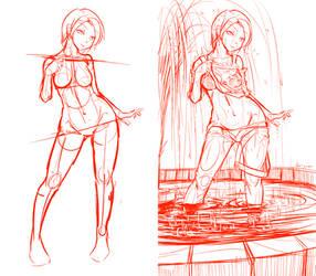 100th Watcher Present: ChaseBlack Yukino sketch