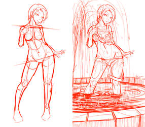 100th Watcher Present: ChaseBlack Yukino sketch by Nsio