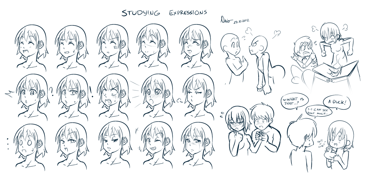 Nervous expression drawing