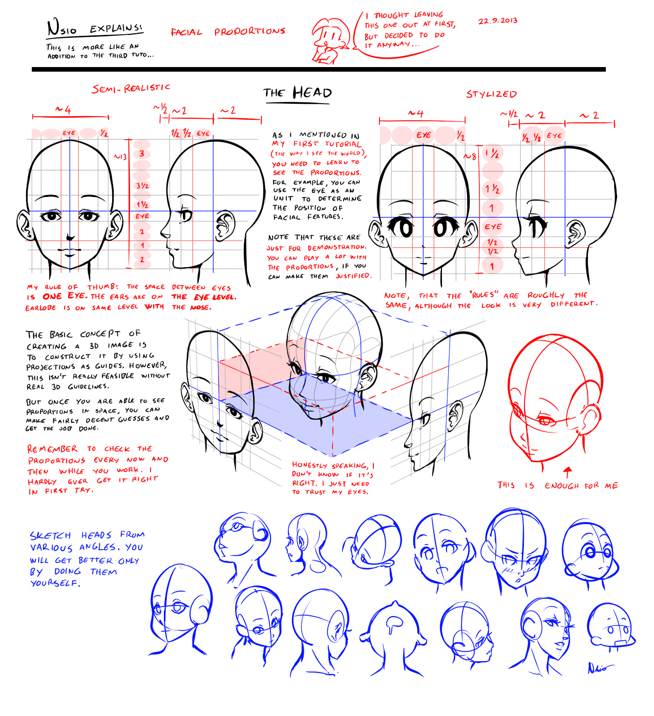 Nsio explains: Facial Proportions by Nsio on DeviantArt