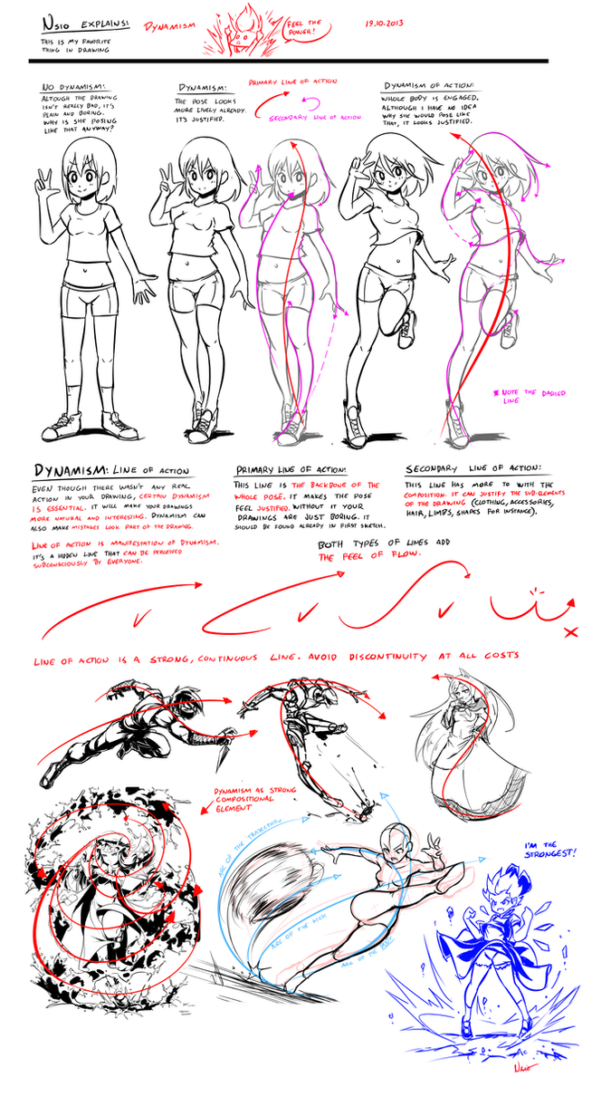 Line Art Guide : Nsio explains dynamism by on deviantart