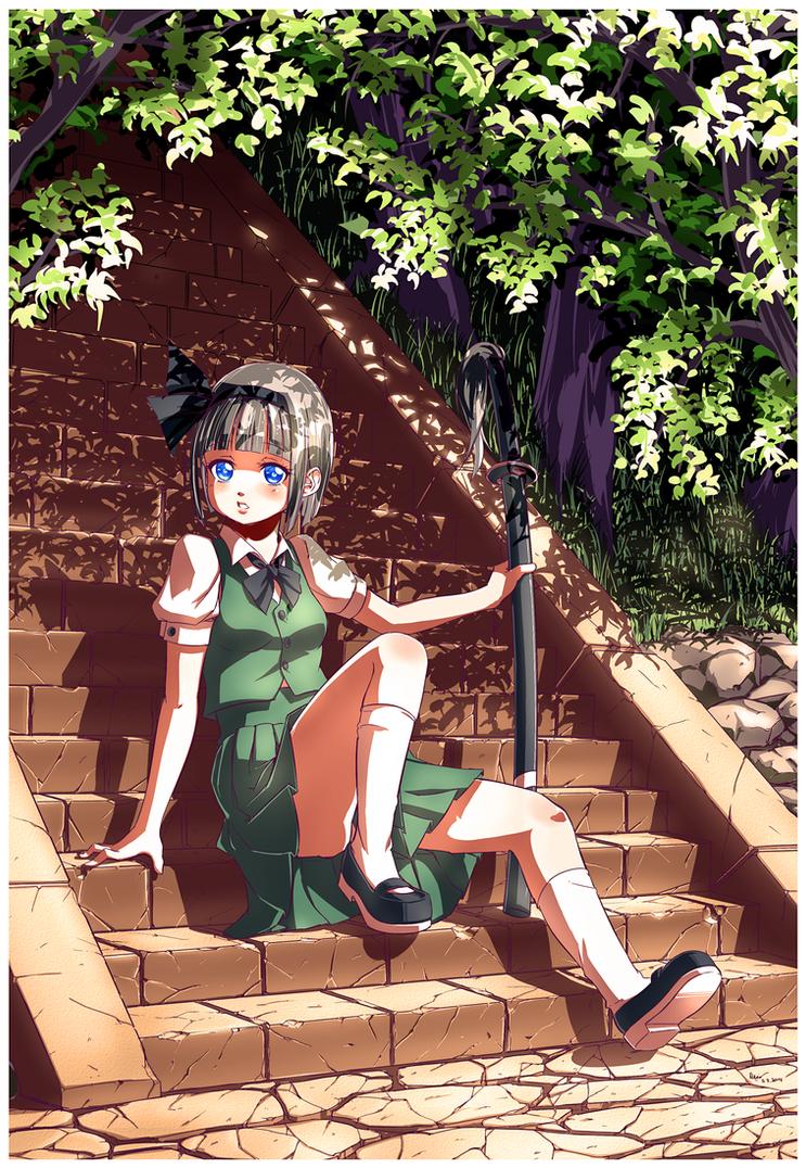 Touhou RestingYoumu by Nsio
